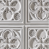 1000 Italian White-Feature wall panel Design
