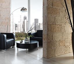 Sillar Picado Stone Panel-Feature wall panel Design